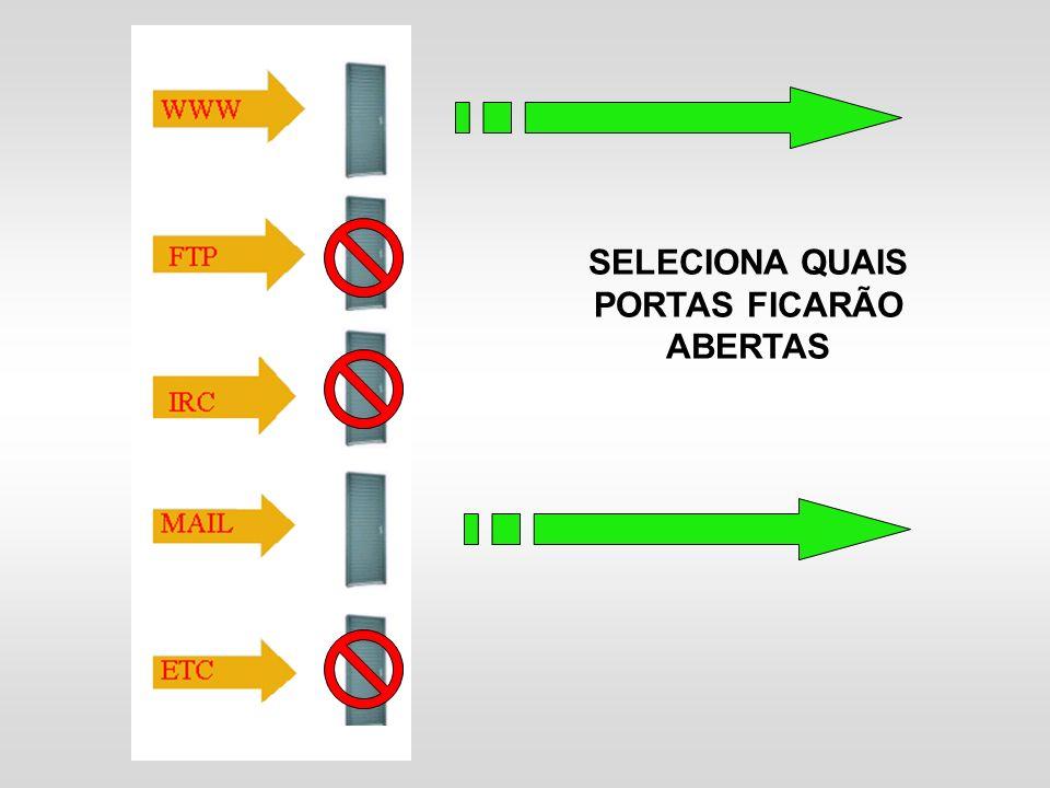 SELECIONA QUAIS PORTAS FICARÃO ABERTAS