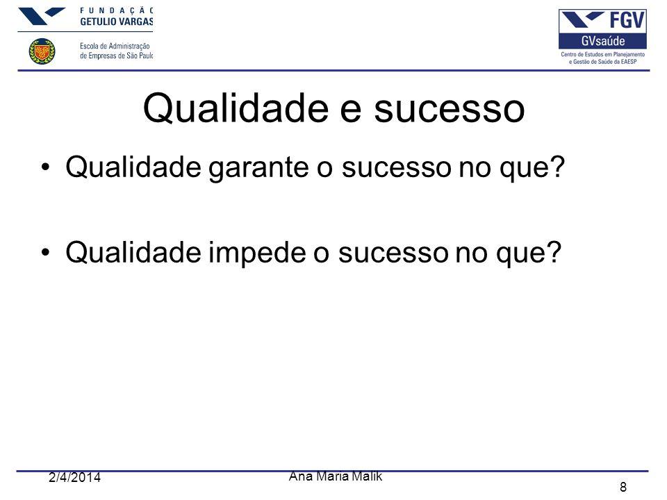 Qualidade e sucesso Qualidade garante o sucesso no que