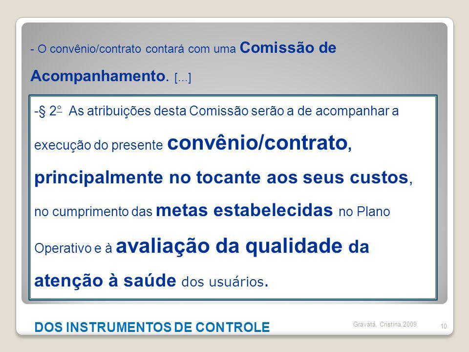 DOS INSTRUMENTOS DE CONTROLE