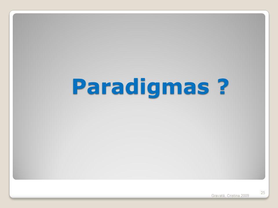 Paradigmas Gravatá, Cristina.2009