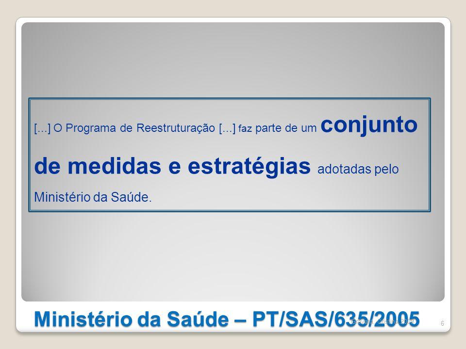 Ministério da Saúde – PT/SAS/635/2005