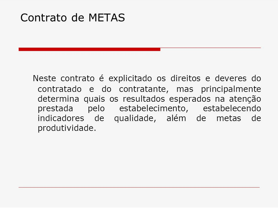 Contrato de METAS
