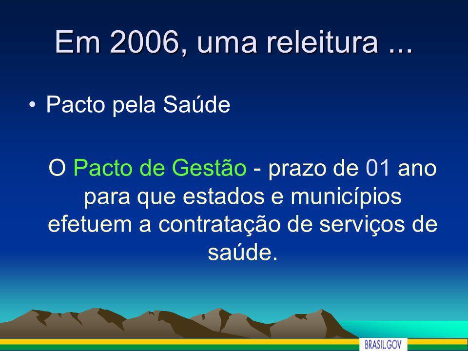 Em 2006, uma releitura ... Pacto pela Saúde