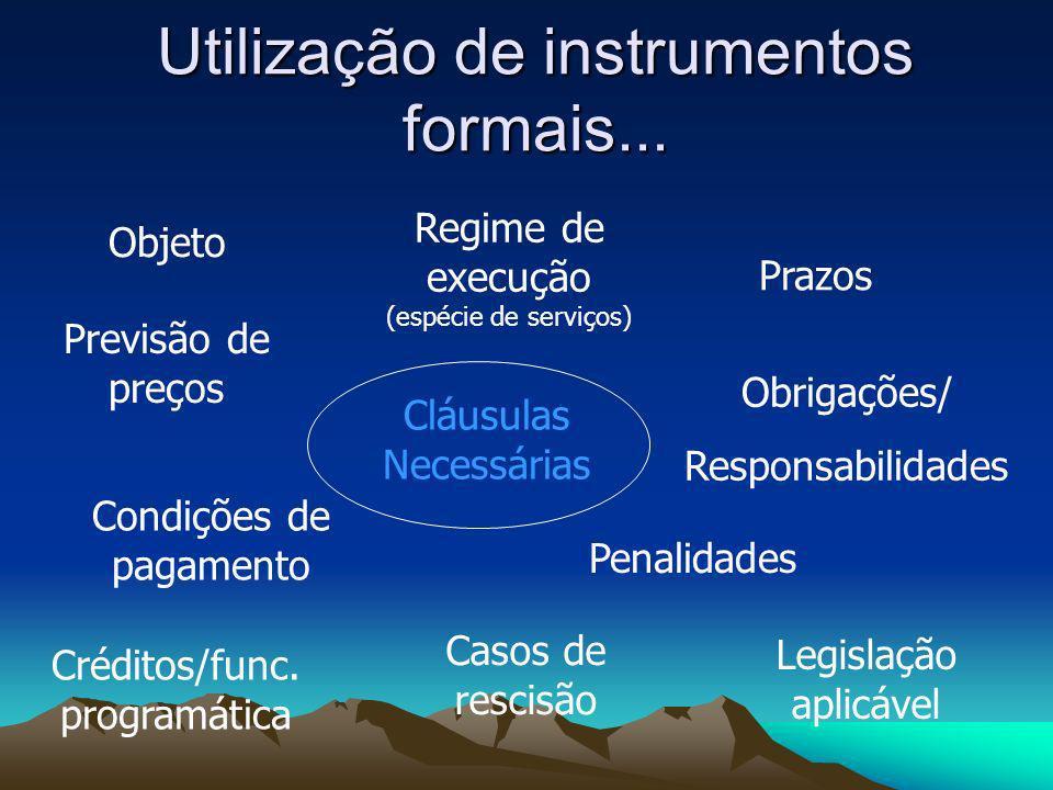 Utilização de instrumentos formais...
