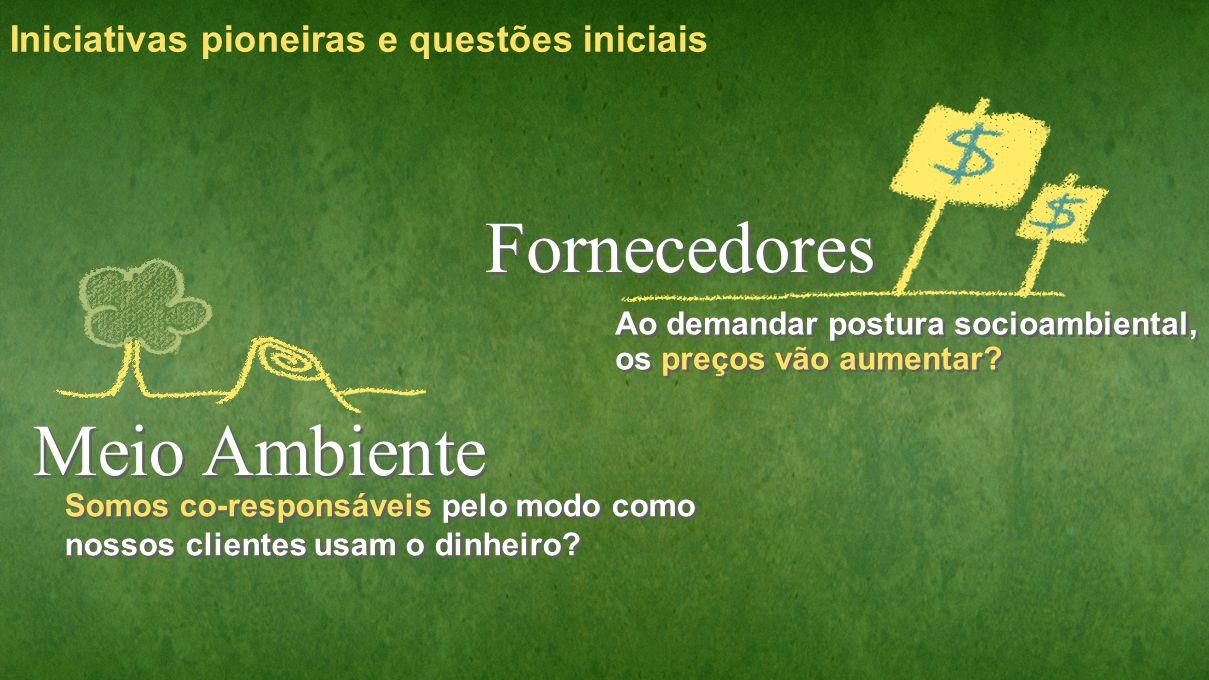 Fornecedores Meio Ambiente Iniciativas pioneiras e questões iniciais