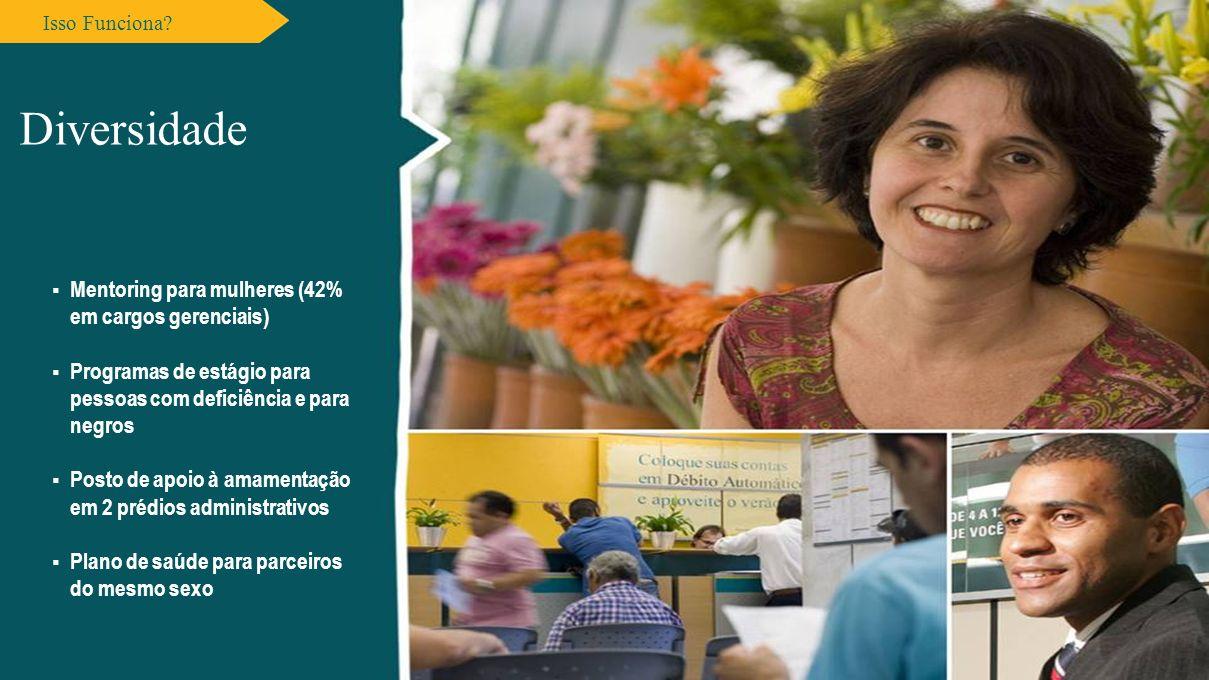 Diversidade Mentoring para mulheres (42% em cargos gerenciais)