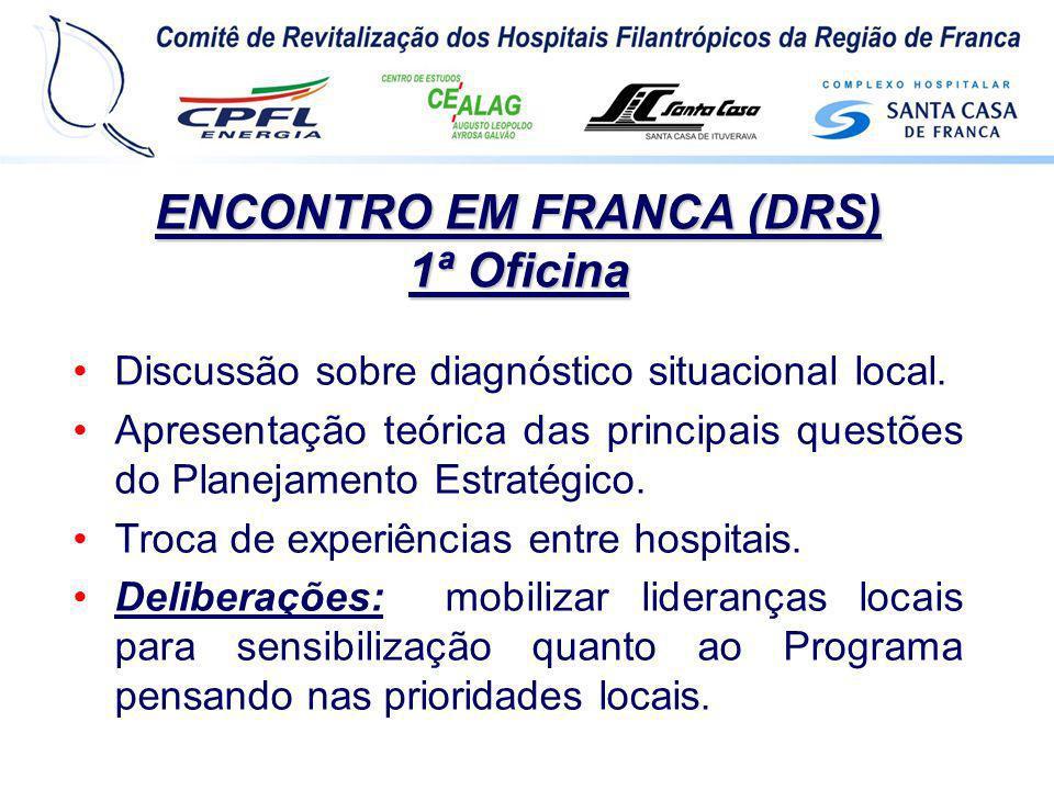 ENCONTRO EM FRANCA (DRS) 1ª Oficina