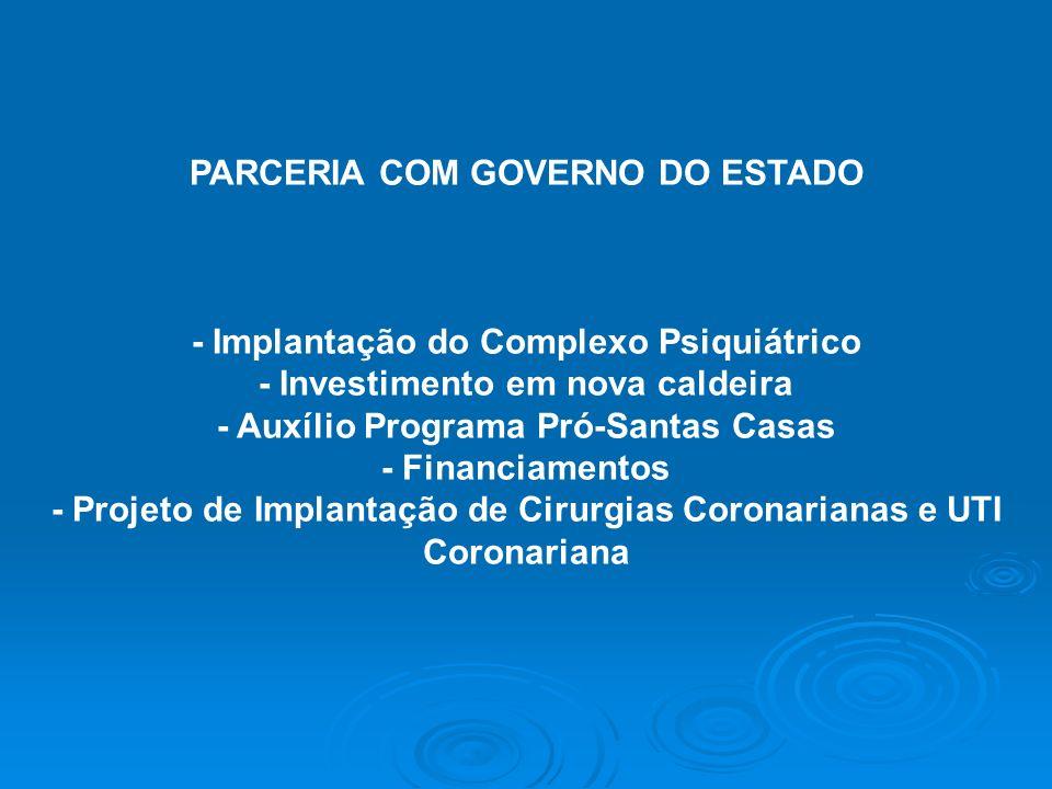 PARCERIA COM GOVERNO DO ESTADO