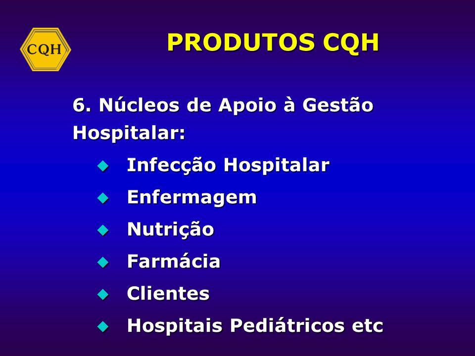 PRODUTOS CQH 6. Núcleos de Apoio à Gestão Hospitalar: