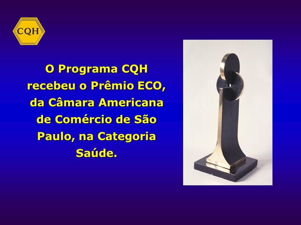 O Programa CQH recebeu o Prêmio ECO, da Câmara Americana de Comércio de São Paulo, na Categoria Saúde.