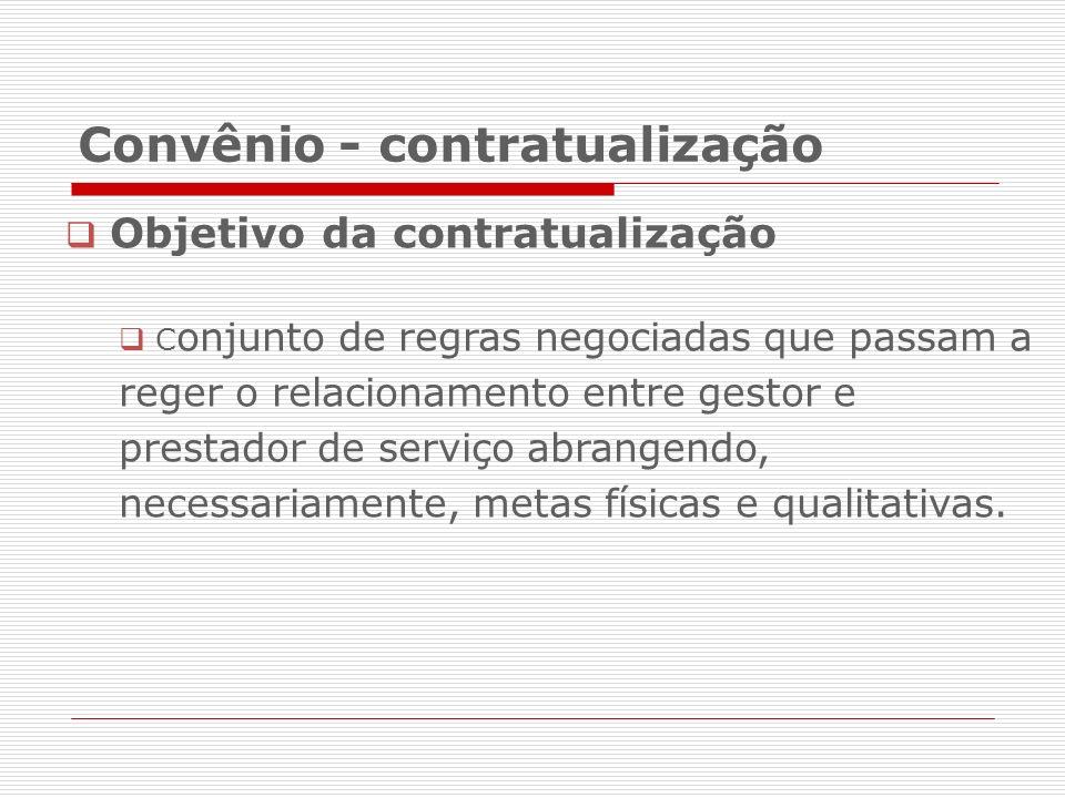 Convênio - contratualização