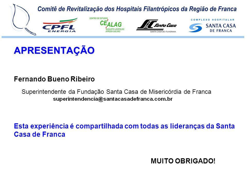 APRESENTAÇÃO MUITO OBRIGADO! Fernando Bueno Ribeiro