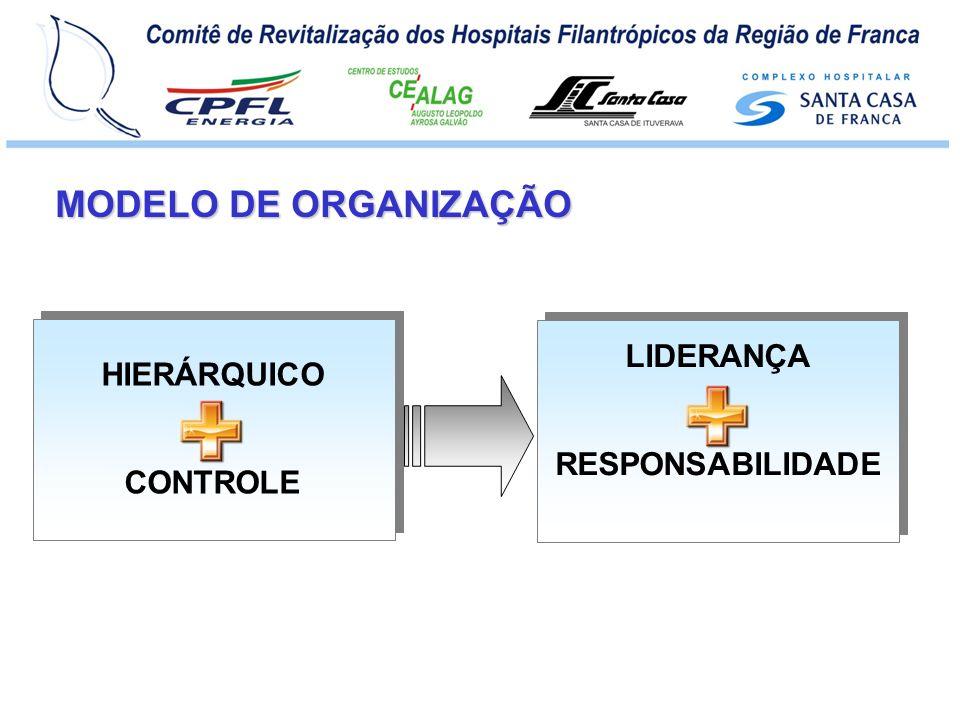 MODELO DE ORGANIZAÇÃO LIDERANÇA RESPONSABILIDADE HIERÁRQUICO CONTROLE