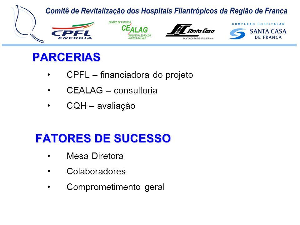 PARCERIAS FATORES DE SUCESSO CPFL – financiadora do projeto
