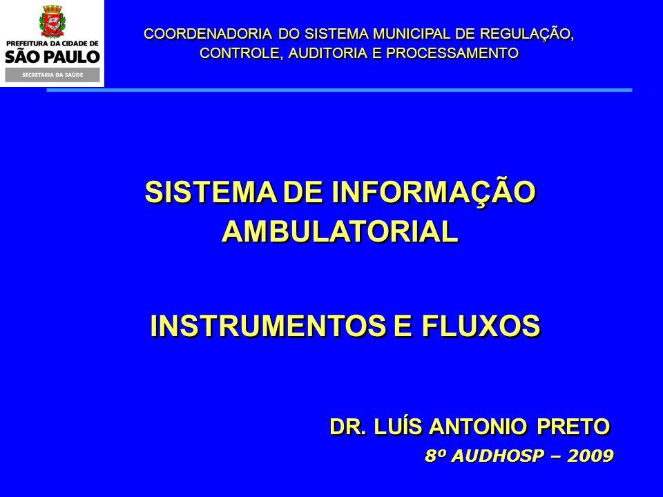 SISTEMA DE INFORMAÇÃO AMBULATORIAL