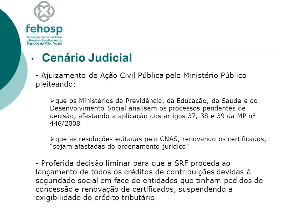 Cenário Judicial Ajuizamento de Ação Civil Pública pelo Ministério Público pleiteando: