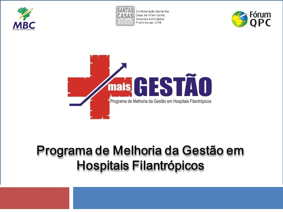 Programa de Melhoria da Gestão em Hospitais Filantrópicos