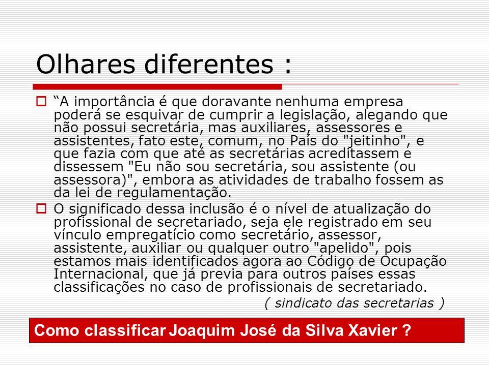 Olhares diferentes : Como classificar Joaquim José da Silva Xavier
