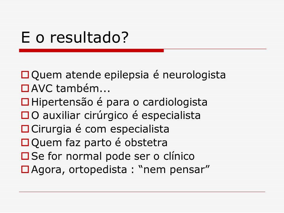 E o resultado Quem atende epilepsia é neurologista AVC também...