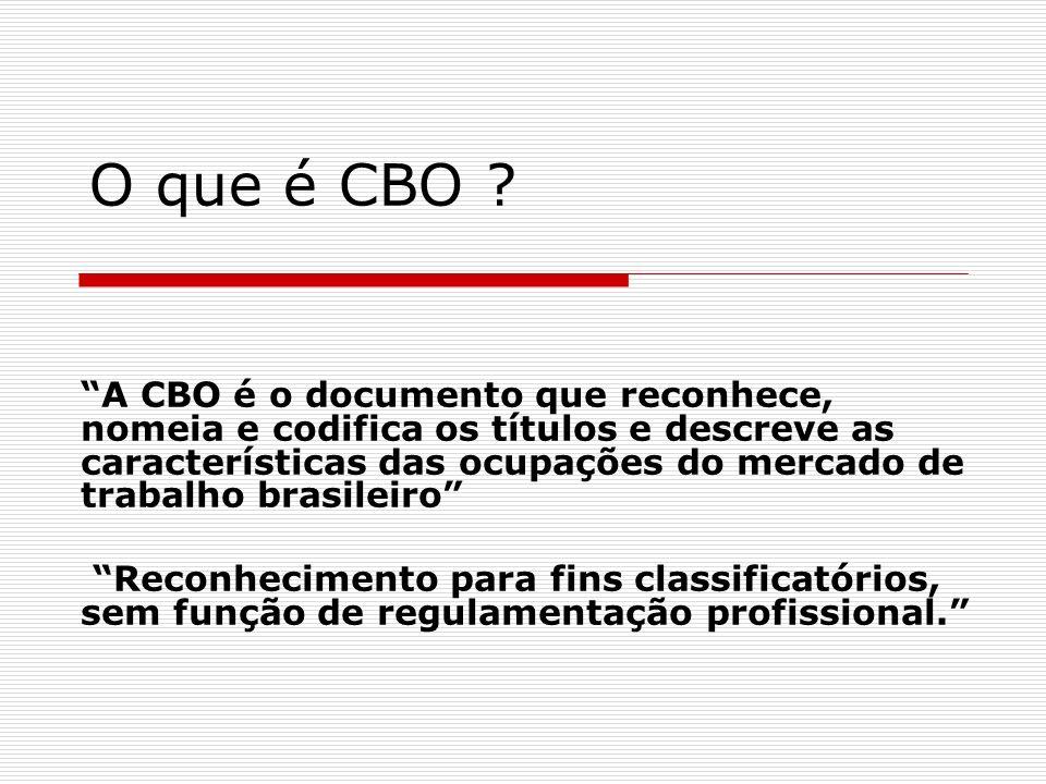 O que é CBO