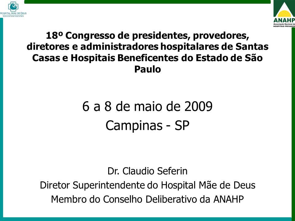 6 a 8 de maio de 2009 Campinas - SP