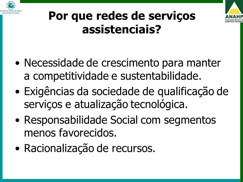 Por que redes de serviços assistenciais