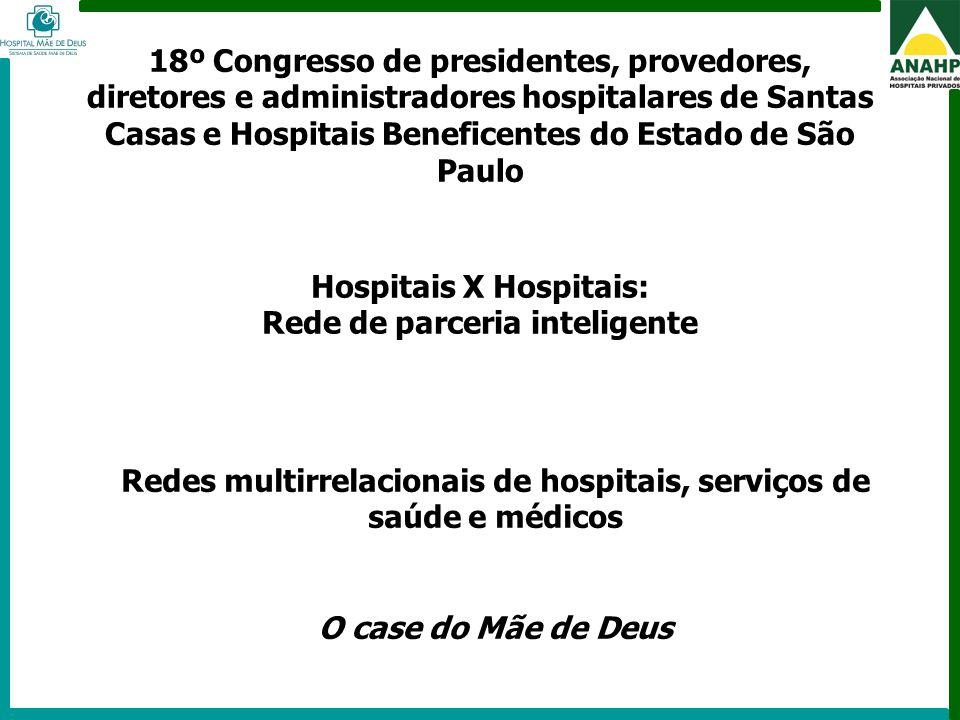 Hospitais X Hospitais: Rede de parceria inteligente