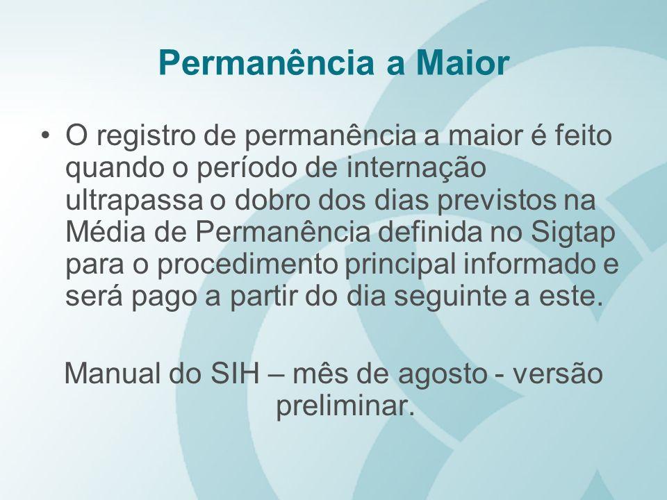 Manual do SIH – mês de agosto - versão preliminar.