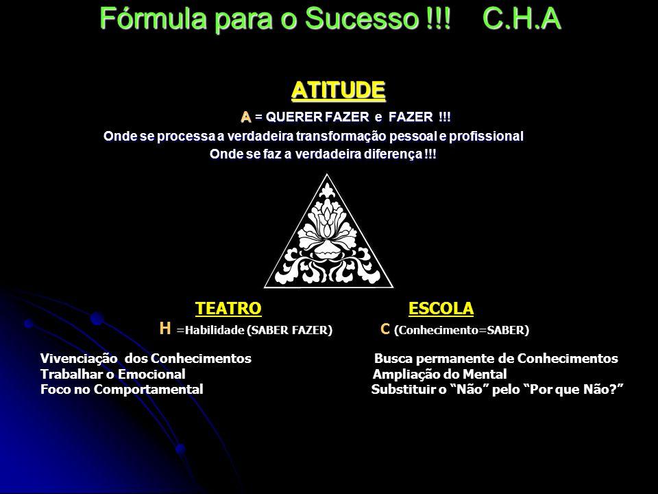 Fórmula para o Sucesso !!! C.H.A