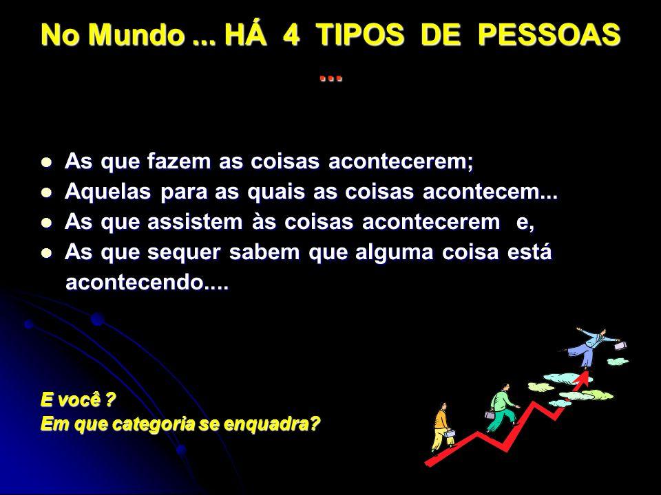 No Mundo ... HÁ 4 TIPOS DE PESSOAS ...