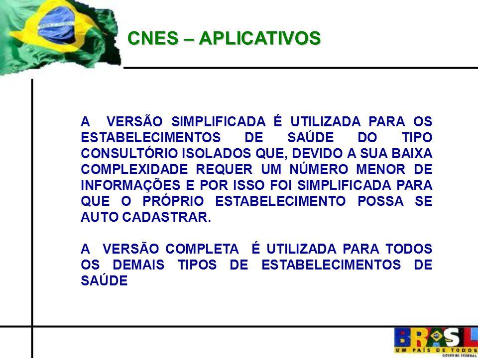 CNES – APLICATIVOS