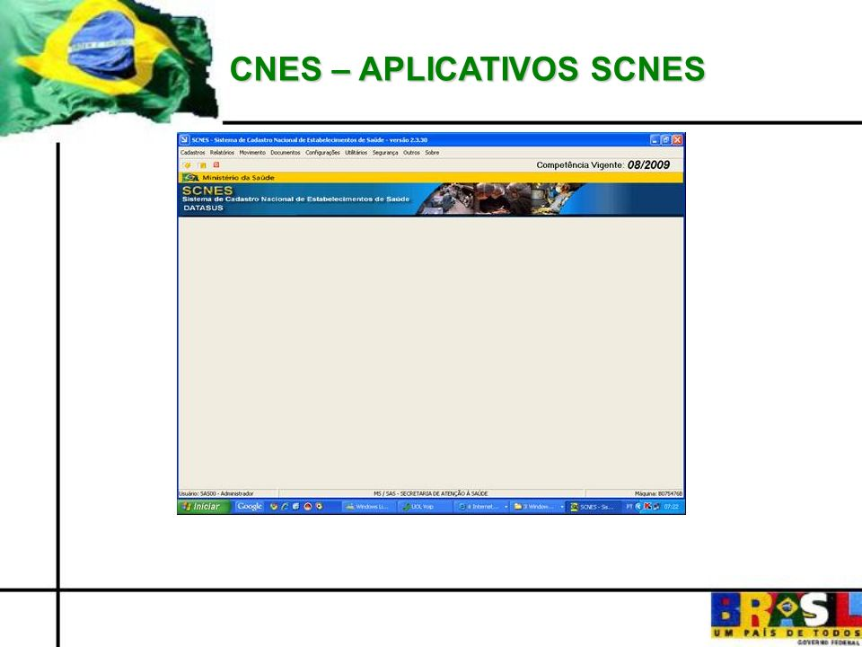 CNES – APLICATIVOS SCNES