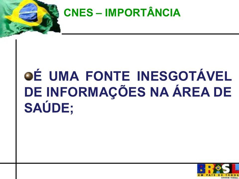 É UMA FONTE INESGOTÁVEL DE INFORMAÇÕES NA ÁREA DE SAÚDE;