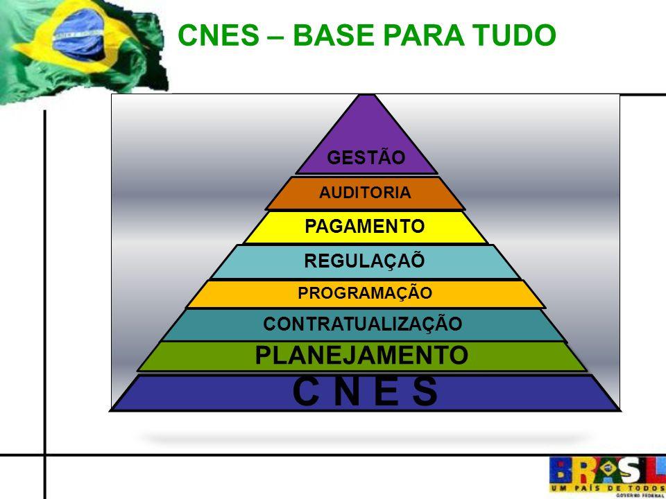 C N E S CNES – BASE PARA TUDO PLANEJAMENTO GESTÃO PAGAMENTO REGULAÇAÕ