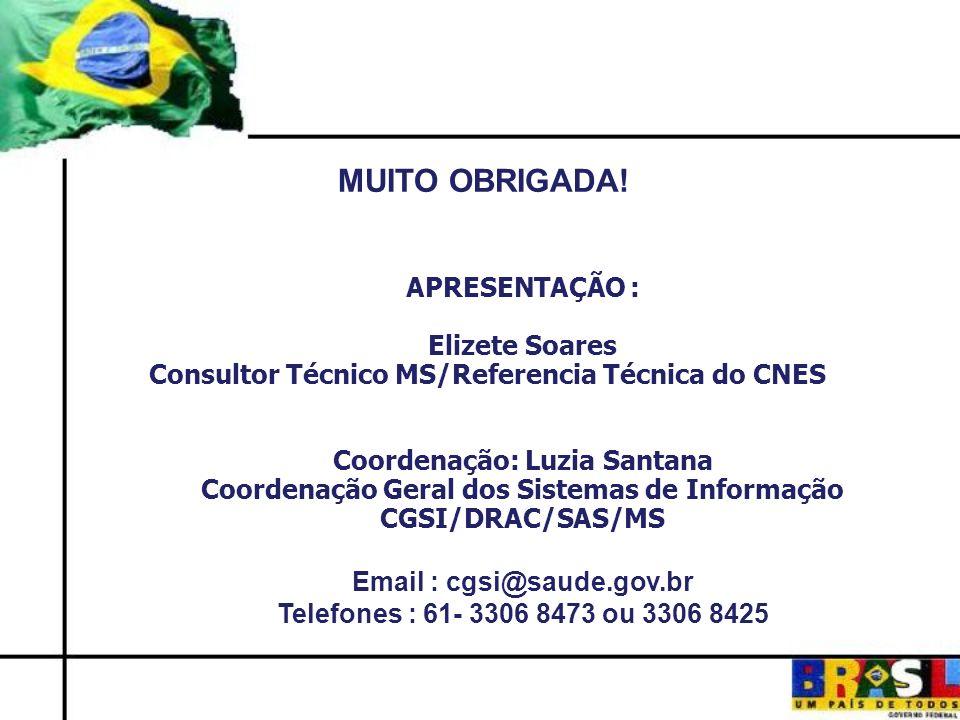 61-/2437 MUITO OBRIGADA! APRESENTAÇÃO : Elizete Soares