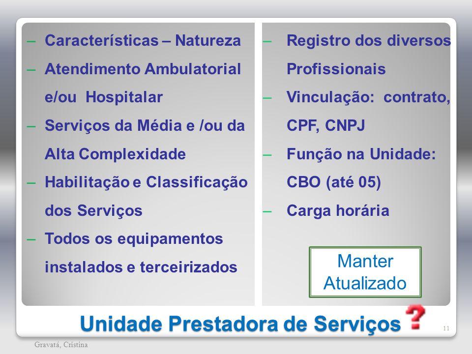 Unidade Prestadora de Serviços