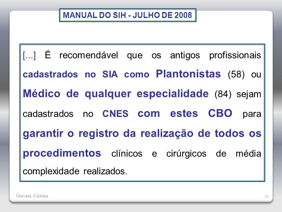 MANUAL DO SIH - JULHO DE 2008