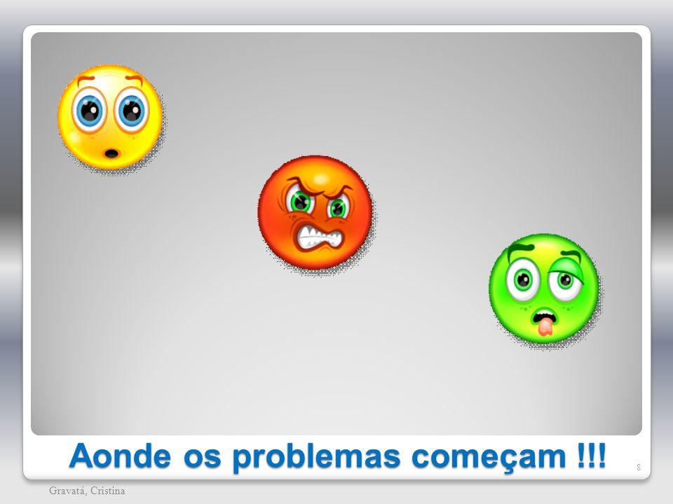 Aonde os problemas começam !!!