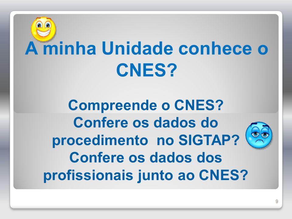 A minha Unidade conhece o CNES