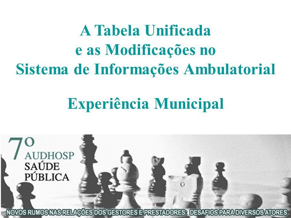Sistema de Informações Ambulatorial Experiência Municipal