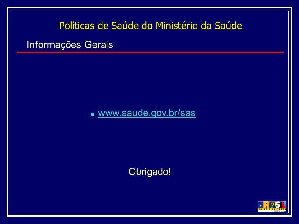 Políticas de Saúde do Ministério da Saúde