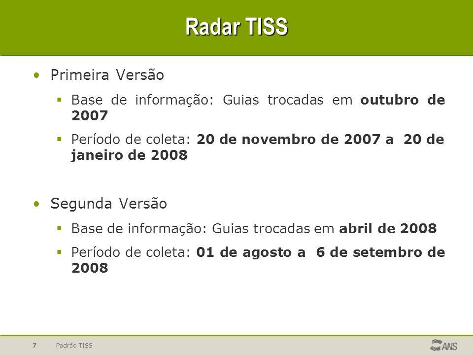 Radar TISS Primeira Versão Segunda Versão