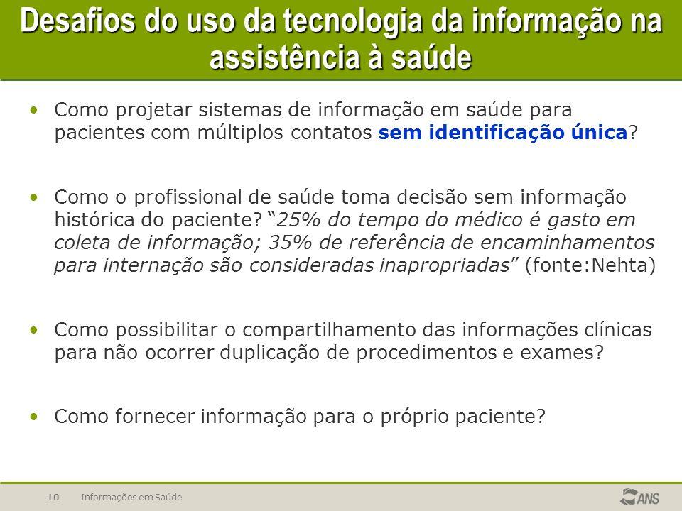 Desafios do uso da tecnologia da informação na assistência à saúde