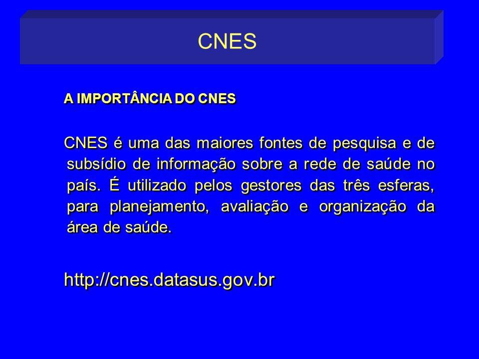 CNES A IMPORTÂNCIA DO CNES