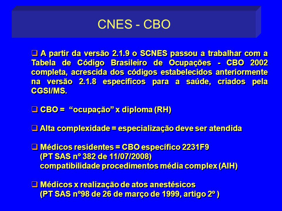 CNES - CBO