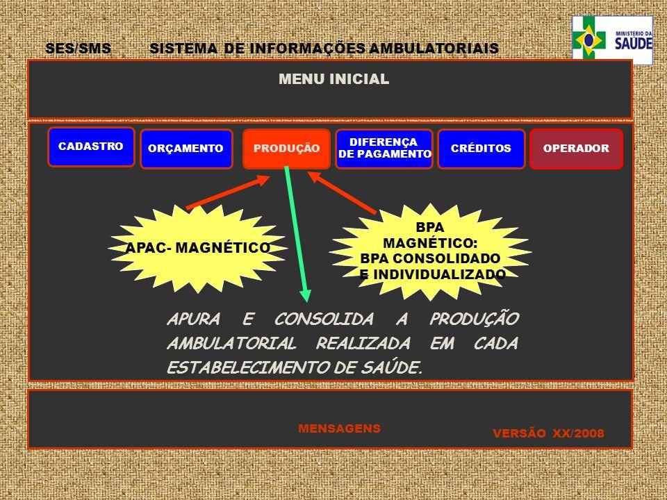 SES/SMS SISTEMA DE INFORMAÇÕES AMBULATORIAIS