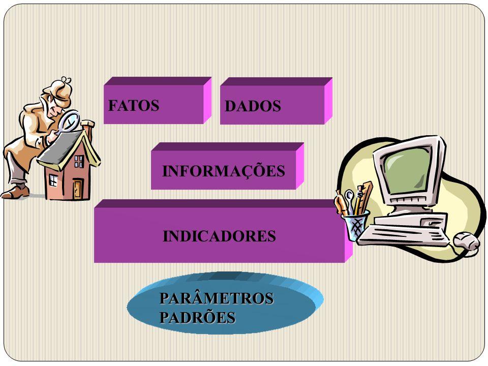 FATOS DADOS INFORMAÇÕES INDICADORES PARÂMETROS PADRÕES