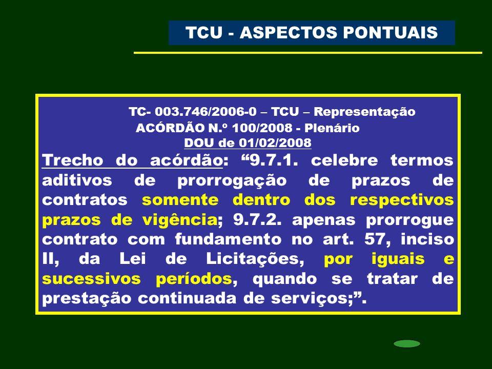 TC- 003.746/2006-0 – TCU – Representação