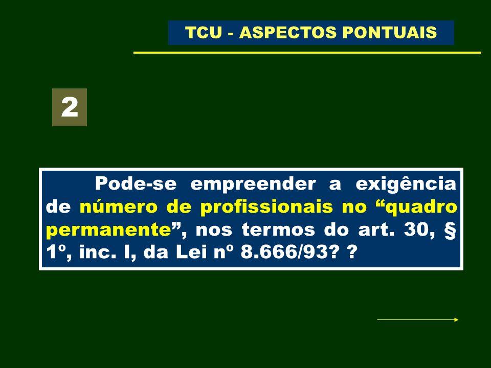 TCU - ASPECTOS PONTUAIS