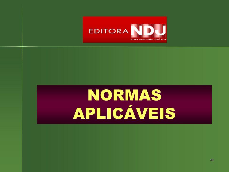 NORMAS APLICÁVEIS